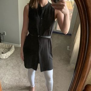 Forever 21 sleeveless black tunic w/belt